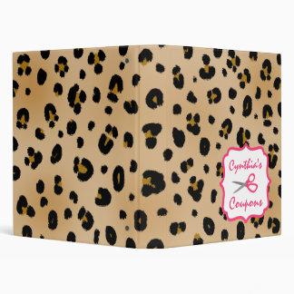 Organizador personalizado de la cupón - leopardo