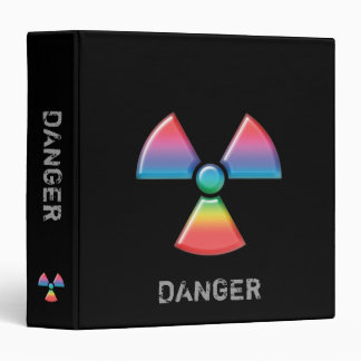 "Organizador radiactivo de la señal de peligro - carpeta 1 1/2"""