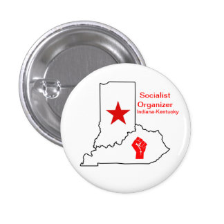 Organizador socialista Indiana-Kentucky Pins
