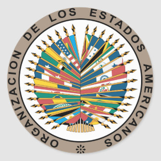 Organization of American States, Spanish Classic Round Sticker
