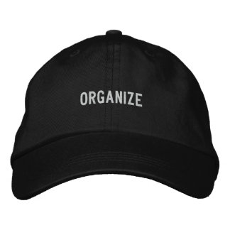 organize embroidered hat