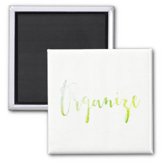 Organize Event Weekly Planner Home Office Green Magnet