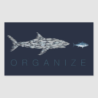 Organize Fish Rectangle Sticker