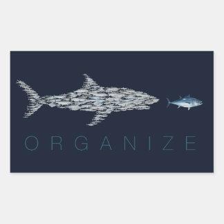 Organize Fish Rectangular Sticker