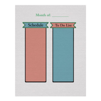 Organize Your Life-To Do List- Schedule Planner Flyer