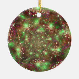 Organized Chaos Double-Sided Ceramic Round Christmas Ornament