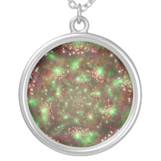 Organized Chaos Round Pendant Necklace