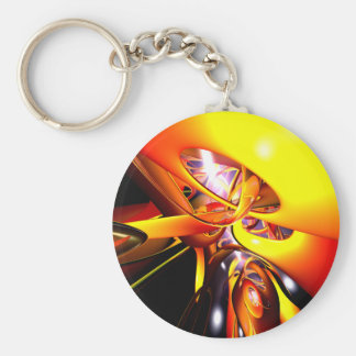 Organized Confusion Abstract Keychain