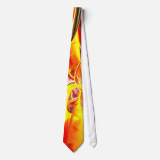 Organized Confusion Painted Abstract Neck Tie