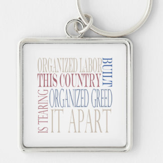 Organized Labor Built This Country Keychain