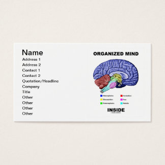 Organized Mind Inside (Anatomical Brain Attitude) Business Card
