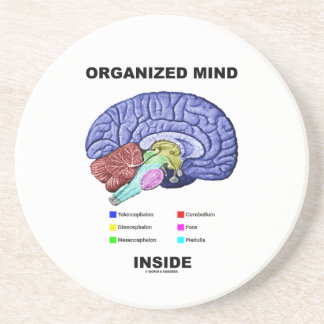 Organized Mind Inside (Anatomical Brain Attitude) Coaster