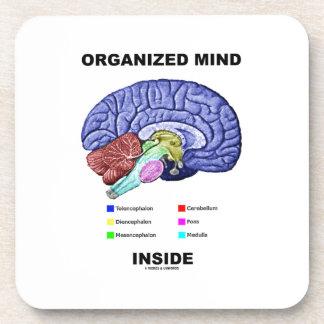 Organized Mind Inside (Anatomical Brain Attitude) Coaster