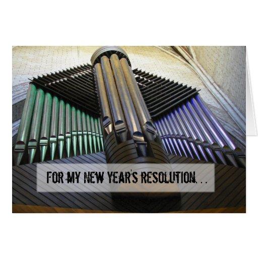 Organized new year card