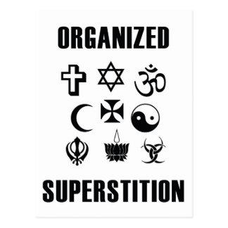 Organized Superstition Postcard
