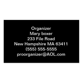 Organizer business cards
