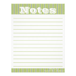 Organizing Forms- Zen Stripes- Notes Letterhead