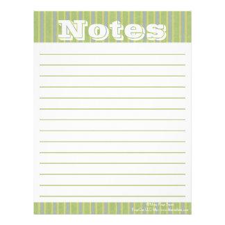 Organizing Forms- Zen Stripes- Notes Letterhead