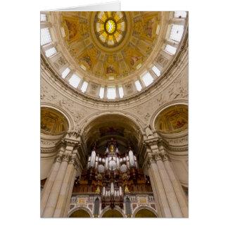 Órgano berlinés de los Dom, Berlín Tarjeta De Felicitación