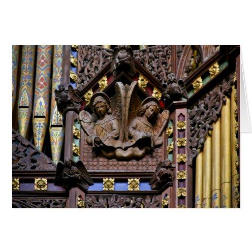 Órgano, catedral de Ely, tarjeta de felicitación B
