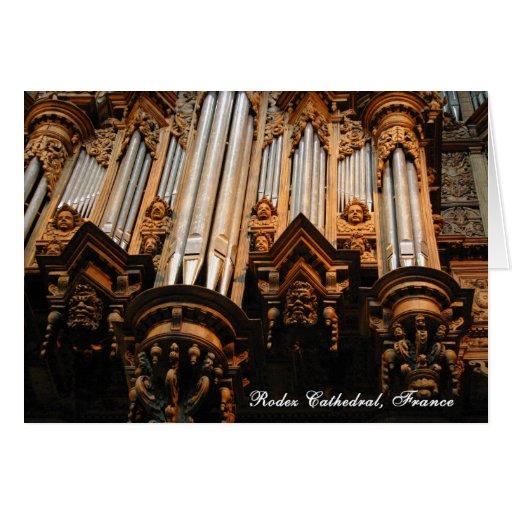 Órgano, catedral de Rodez, Francia Tarjeta De Felicitación
