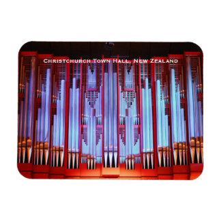 Órgano de ayuntamiento de Christchurch Rectangle Magnet