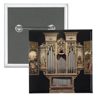 Órgano de coro con los paneles abiertos pin cuadrado