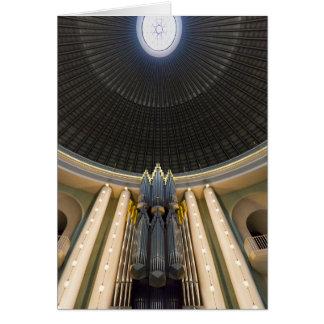 Órgano de Klais, St Hedwig, Berlín Tarjeta De Felicitación