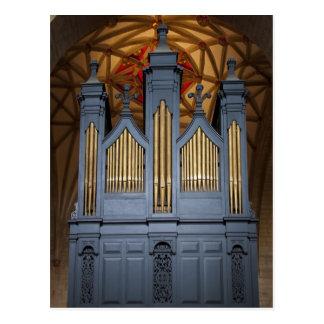 Órgano de la abadía de Tewkesbury, postal