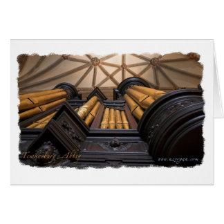 Órgano de la abadía de Tewkesbury Tarjeta De Felicitación