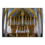 Órgano de la catedral de Albi, Francia Tarjeta