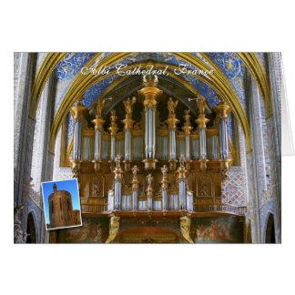 Órgano de la catedral de Albi, Francia Tarjeta De Felicitación