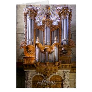 Órgano de la catedral de Béziers Tarjetón