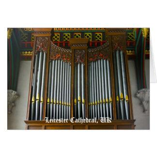 Órgano de la catedral de Leicester Felicitación
