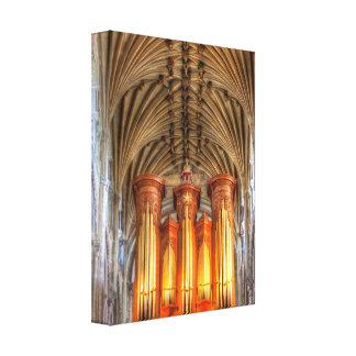 Órgano de la catedral de Norwich Impresión De Lienzo
