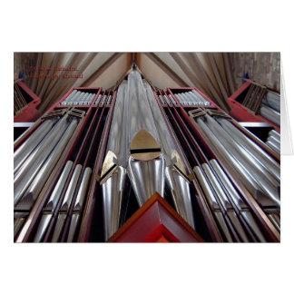 Órgano de la catedral de St Giles, Edimburgo Tarjeta De Felicitación