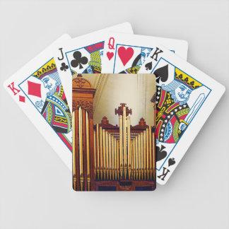 Órgano de la iglesia baraja de cartas bicycle