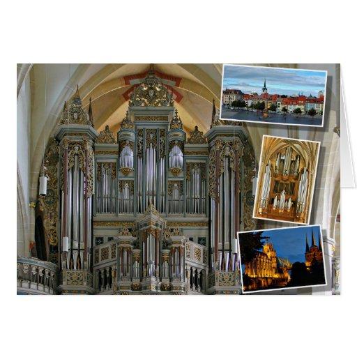 Órgano de la iglesia de Erfurt Prediger Tarjeta