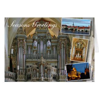 Órgano de la iglesia de Erfurt Prediger Tarjeta De Felicitación