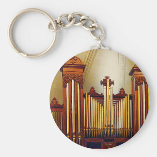 Órgano de la iglesia llavero redondo tipo pin