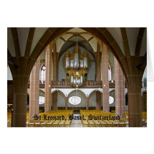 Órgano de Silbermann en Basilea, Suiza Tarjetas