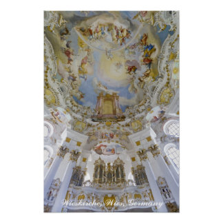 Órgano de Wieskirche, Alemania Póster