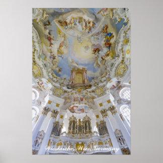 Órgano de Wieskirche, Alemania Posters