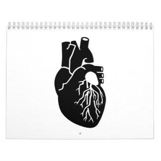 Órgano del corazón calendarios
