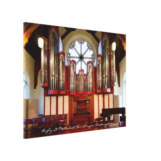 Órgano del Methodist de la calle del rugbi Lienzo Envuelto Para Galerías