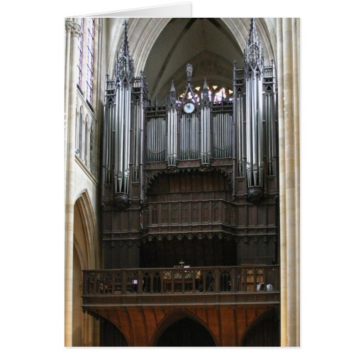 Órgano del St Clotilde, París Tarjetón