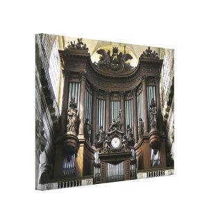 Órgano del St Sulpice Lienzo Envuelto Para Galerias