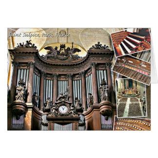 Órgano del St Sulpice Tarjeta De Felicitación