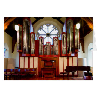 Órgano destruido, Merivale, Christchurch Tarjeta Pequeña