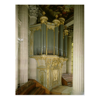 Órgano en la capilla tarjeta postal